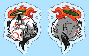 Amaterasu Double Sided Acrylic Charm