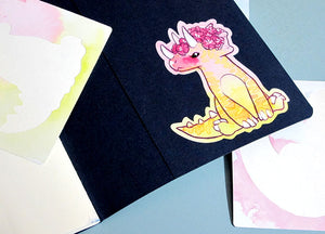 Sweet Saurians: T-rex, Triceratops and Plesiosaur Vinyl Stickers