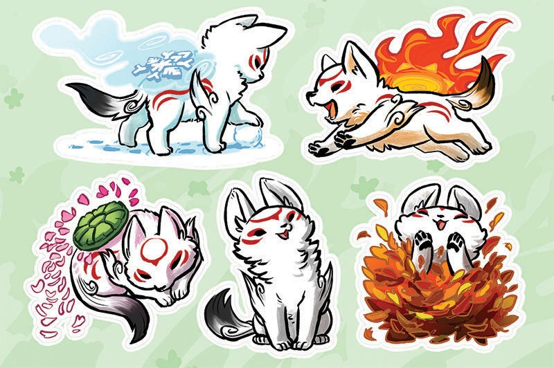 Okami-den Vinyl Sticker Sheet