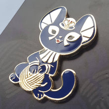 Load image into Gallery viewer, Bastet <3 String Enamel Pin (Tiny Pantheon 2017)