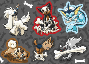 Pokepups Vinyl Sticker Sheet