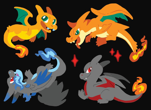 Charizards Vinyl Sticker Sheet