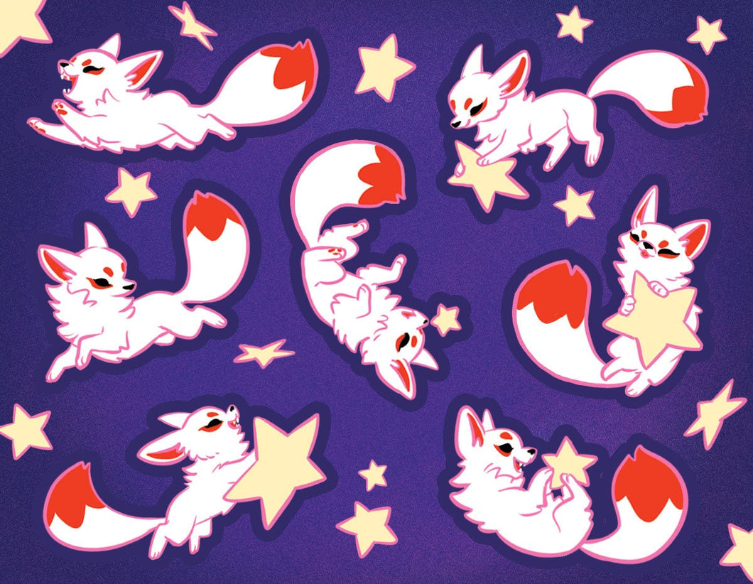 Startail Fox Vinyl Sticker Sheet