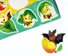 Load image into Gallery viewer, BATTYBATS Vinyl Sticker Sheet - Australian Fruit Bat and Honduran Bat