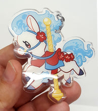 Load image into Gallery viewer, Carousel (Shiny) Ponyta Acrylic Keychain Charm