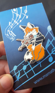 Bluebell the Fox Violinist Enamel Pin