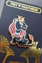 Load image into Gallery viewer, Sekhmet Enamel Pin (Tiny Pantheon 2018)