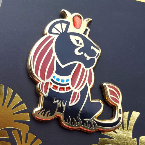 Sekhmet Enamel Pin (Tiny Pantheon 2018)
