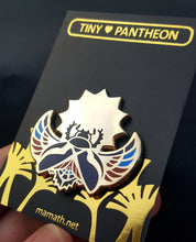 Load image into Gallery viewer, Khepri Enamel Pin (Tiny Pantheon 2018)