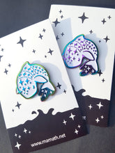 Load image into Gallery viewer, Rainbow Nightsea Whale Shark Enamel Pin