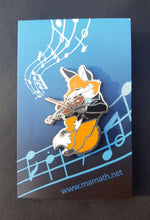 Load image into Gallery viewer, Bluebell the Fox Violinist Enamel Pin
