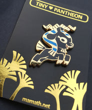 Load image into Gallery viewer, Khnum Enamel Pin (Tiny Pantheon 2018)