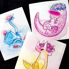 Load image into Gallery viewer, Sweet Saurians: T-rex, Triceratops and Plesiosaur Vinyl Stickers