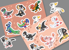 Load image into Gallery viewer, Scree! Mini Raptor Vinyl Sticker Sheets
