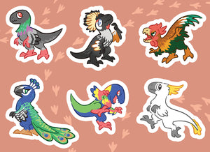 Scree! Mini Raptor Vinyl Sticker Sheets