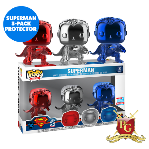 SUPERMAN 3 PACK POP PROTECTOR