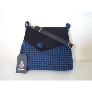 Harris Tweed Shoulder Bag - Blue & Black Check