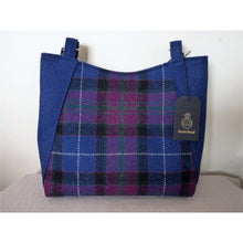 Load image into Gallery viewer, Harris Tweed bag, large tote bag, shopping bag in blue multi check