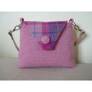 Harris Tweed Langthwaite Shoulder Bag – Pink & Check