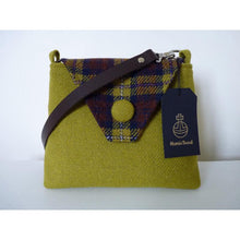 Load image into Gallery viewer, Harris Tweed Langthwaite shoulder bag, handbag – acid green and check