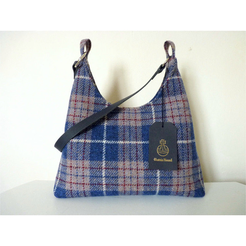 Harris Tweed Sedbergh Shoulder Bag - Blue & Beige Check