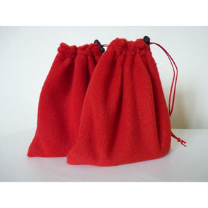 English stirrup iron covers, stirrup bags (1 pair) - bright red