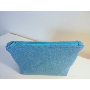 Harris Tweed cosmetic bag, makeup bag - mint herringbone