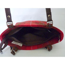 Load image into Gallery viewer, Harris Tweed Bedale Tote Bag - Red & Brown Check