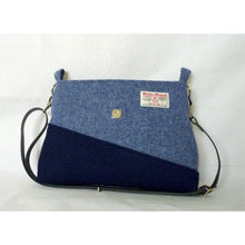 Load image into Gallery viewer, Harris Tweed Sedgeford Shoulder Bag, Crossbody Bag – Two Tone Blue