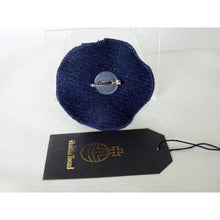 Load image into Gallery viewer, Harris Tweed Folded Layered Brooch, Corsage - Navy & Multi Check