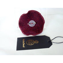 Load image into Gallery viewer, Harris Tweed Three Layer Brooch, Corsage - Burgundy
