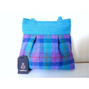 Harris Tweed Arncliffe Tote Bag -  Mint & Purple Check