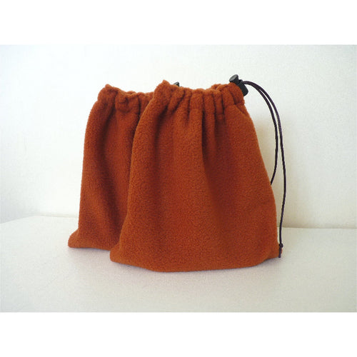 English stirrup iron covers, stirrup bags (1 pair) - terracotta