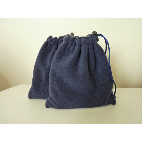 English Stirrup Iron Covers, Stirrup Bags - Navy Fleece