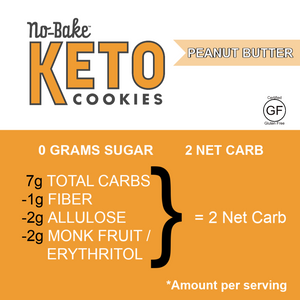 KETO No-Bake Cookies, Bite Size & Bakery Fresh - 4 Peanut Butter