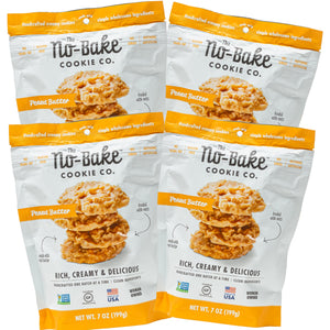 NEW!  No-Bake Cookies To Go! - 4 / 7 oz Bite Size Family Bags to Share The Love!