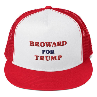 "Embroidered ""Broward for Trump"" Trucker Hat"