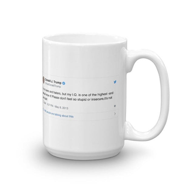 Funny Trump Mug | High IQ Tweet