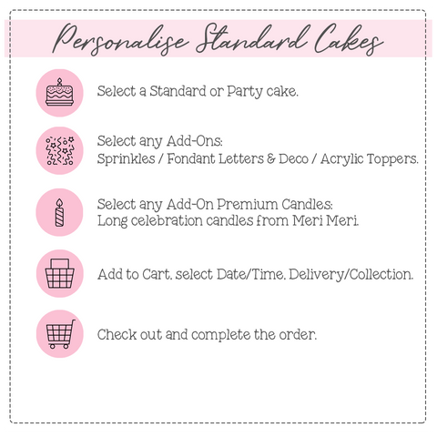 Ordering Process - Personalise Standard Cakes