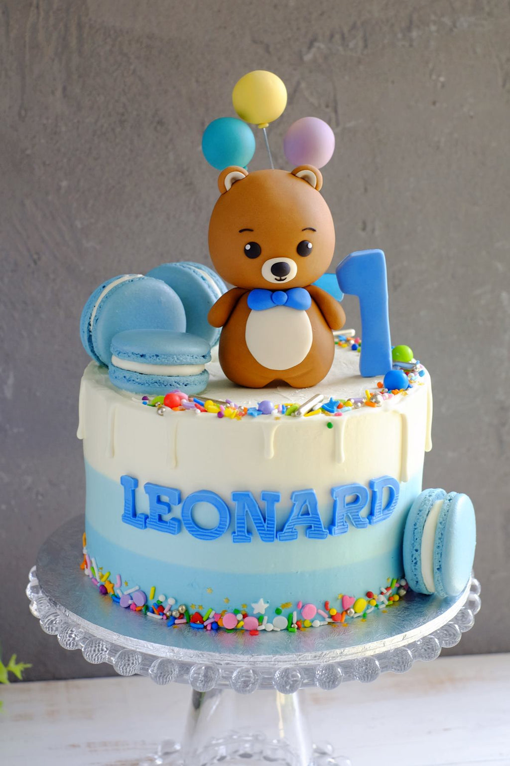 Teddy Bear Cake (Other Colors Available)