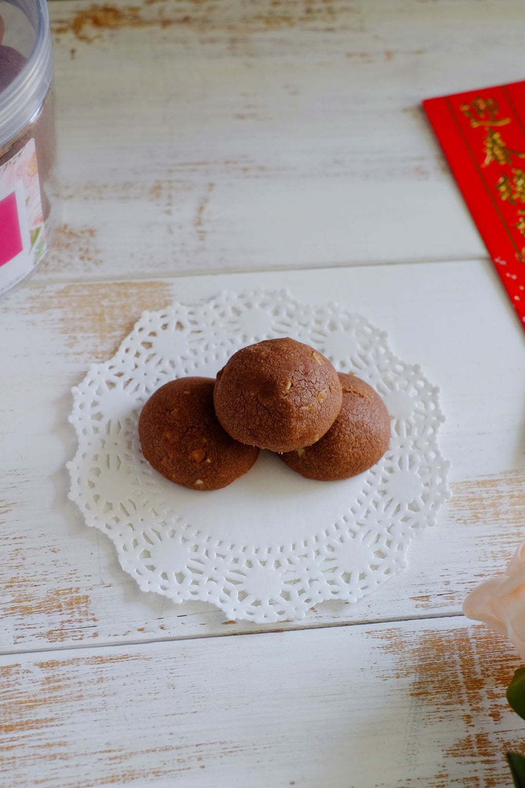 Cocoa Malt Almond Cookies