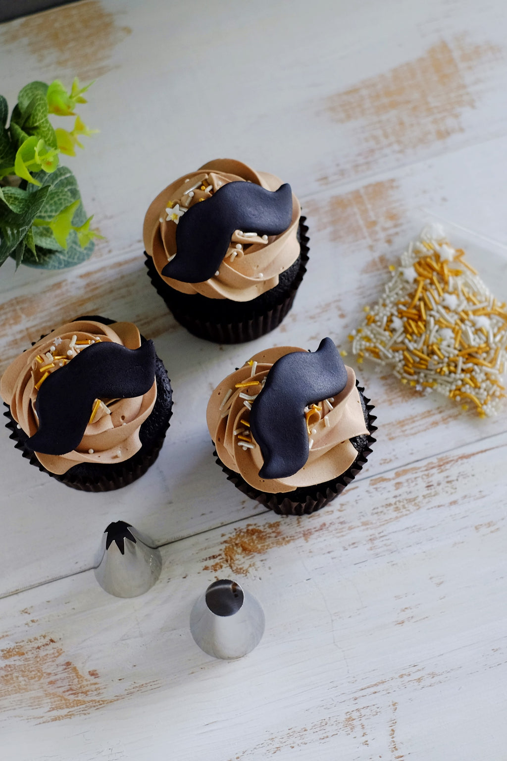 Decorate-It-Yourself Moustache Cupcake Kit