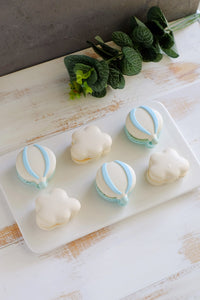 Designer Macarons: Hot Air Balloon & Clouds (From $3.80/Pc)
