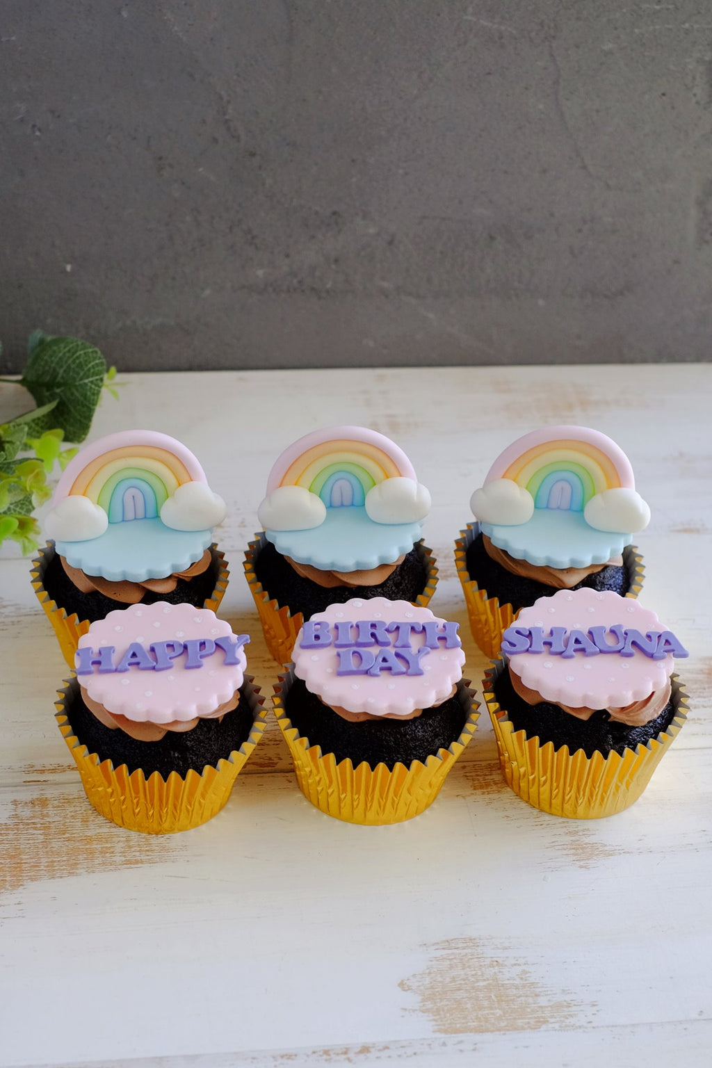 Rainbow Fondant Cupcakes (From $6.38/Pc)