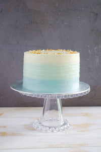 Baby Blue Ombre Textured Cake with Sprinkles