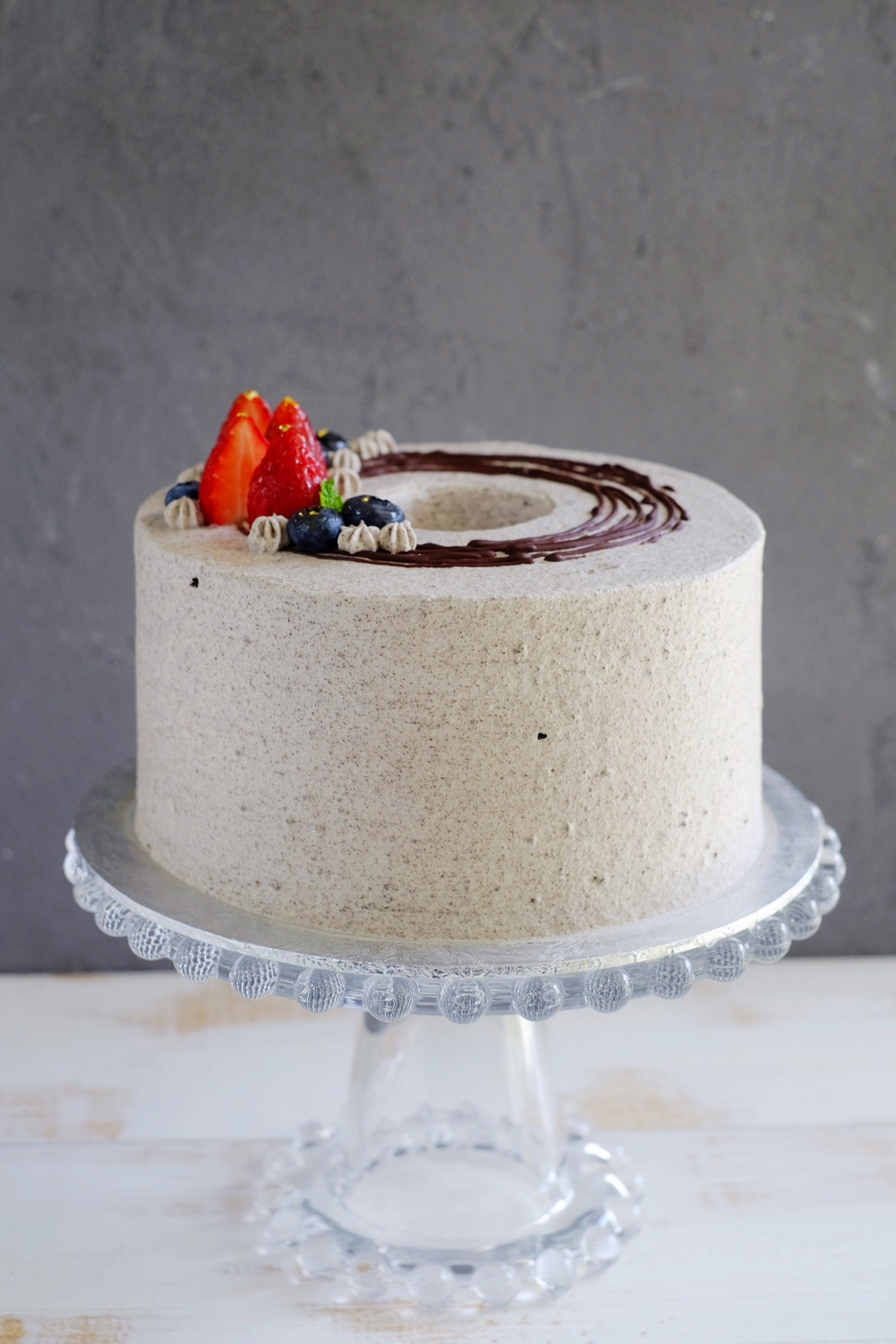 Oreo Chocolate Chiffon Fresh Cream Cake