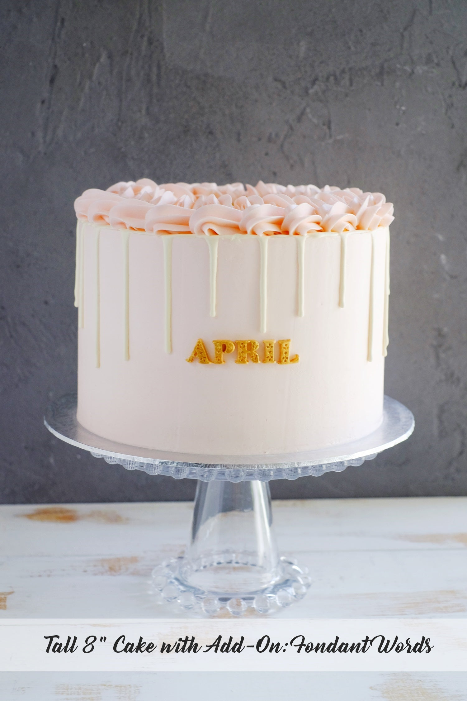 Pastel Pink Cake with White Chocolate Drip