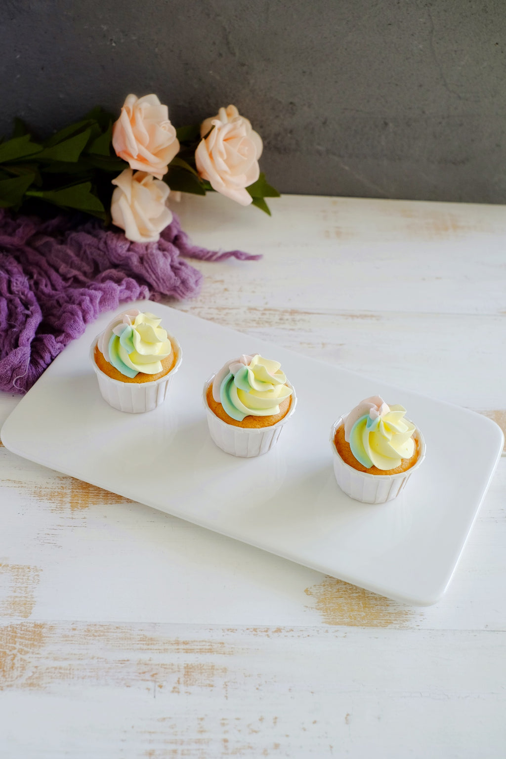 Mini Pastel Rainbow Cupcakes (6 / 12 Pcs)
