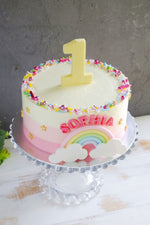 Sweet Ombre Rainbow Number Cake