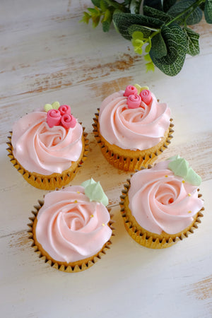 Ribbon Rose Cupcakes ($4.85/Pc)